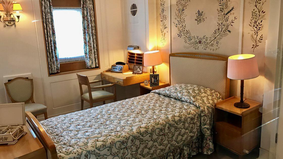 Sypialnia królowej Elżbiety II, HMY Britannia. Foto: T. Bobrowski