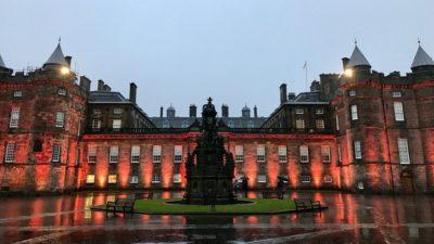Pałac Holyrood, dziedziniec zewnętrzny. Foto: T. Bobrowski