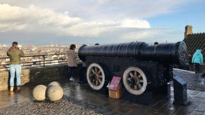 Armata Mons Meg na zamku w Edynburgu. Foto: T. Bobrowski