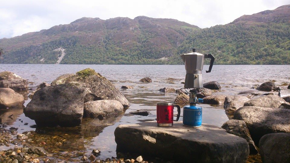 Namiot w Szkocji: kawa nad Loch Ness. Foto: M. Błażejczak