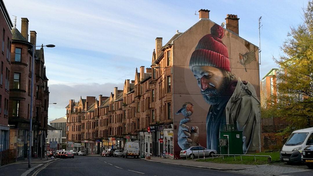 Jeden z wielu murali w Glasgow, foto: M. Błażejczak