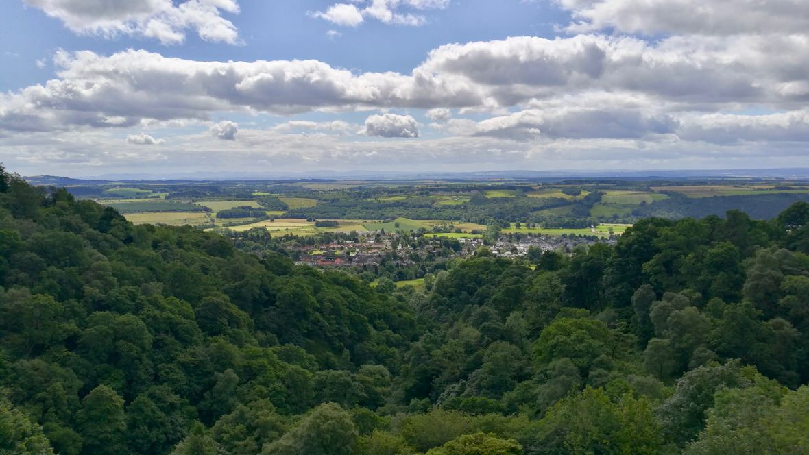 Panorama z zamku Campbell, foto: M. Błażejczak