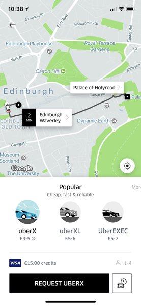 Aby zamówić przejazd Uber wystarczy podać cel podróży w aplikacji. Cena widoczna jest przed zamówieniem.