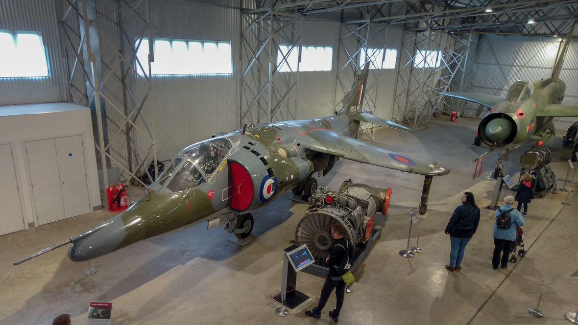 National Museum of Flight, Harrier jump jet. Foto: M. Błażejczak