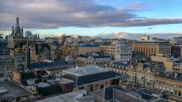 Widok z The Lighthouse, Glasgow. Foto: M. Błażejczak